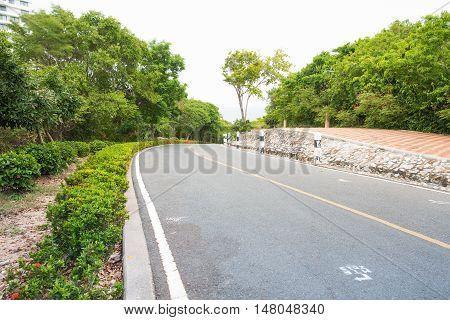 Outdoor parking road Landscape pictures . .