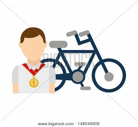 avatar winner medal first place sport vector illustration design