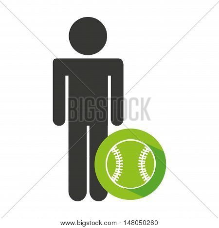 avatar silhouette athlete icon vector illustration design