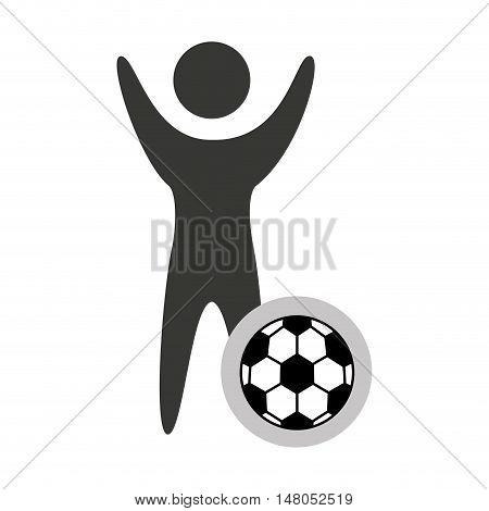 avatar silhouette athlete icon vector illustration design
