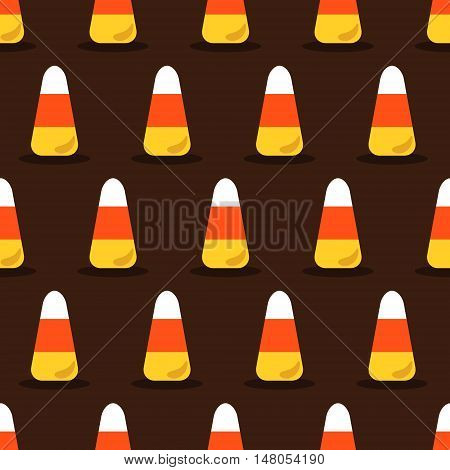 Candy corn vector seamless Halloween pattern eps 10
