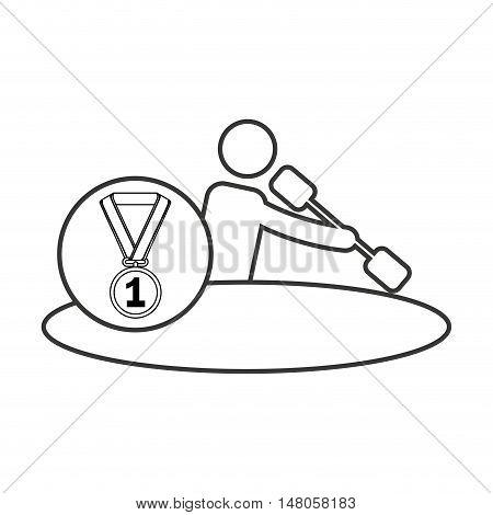 avatar winner medal first place sport vector illustration design