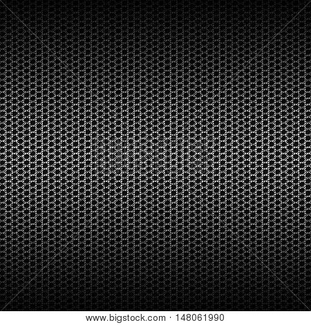 set 8. gray carbon fiber mesh on black metal plate. background and texture. 3d illustration.