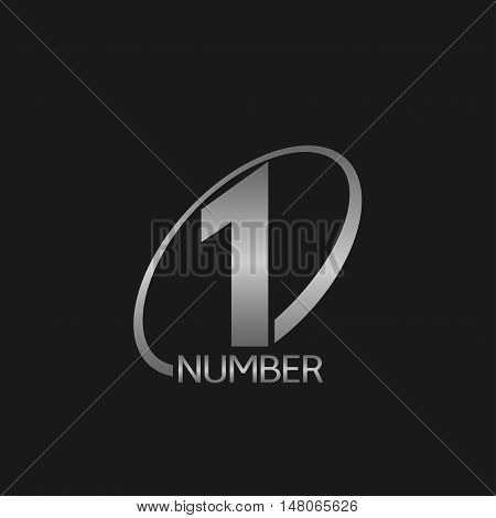 First place icon Silver number one Vector illustration
