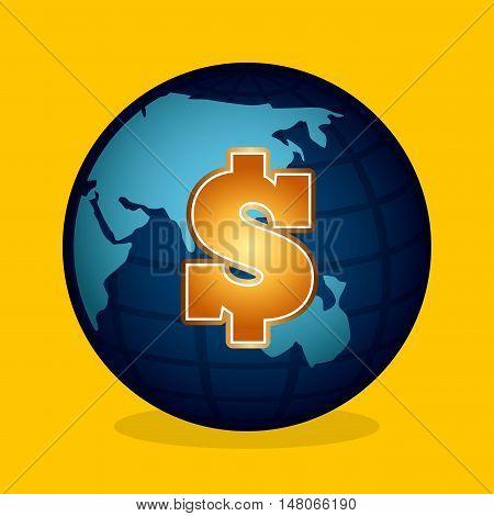global economy planet concept vector illustration design