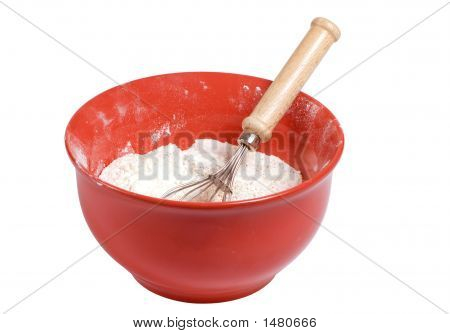 Mixing Bowl With Flour