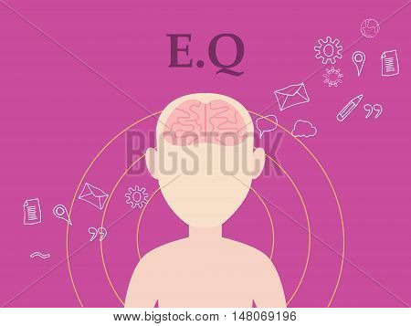 eq emotional question illustration concept with people with icon education and tools as background vector