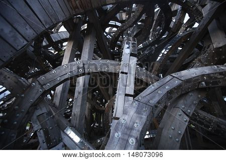 Chaotic structure background. Abstract gray technical texture