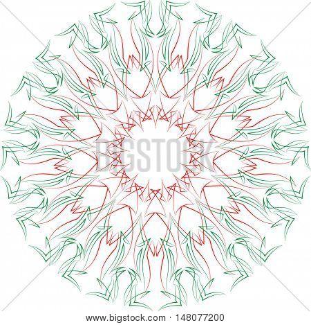 Pinstripe Design Circular Vinyl Ready Vector Illustration
