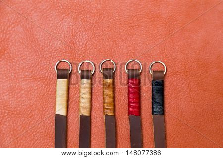 Genuine Camera Strap Handmade With Thread On Leather
