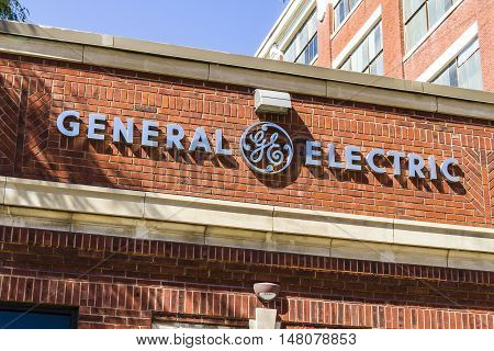 Ft. Wayne - Circa September 2016: General Electric Factory. GE is the world's Digital Industrial Company XII