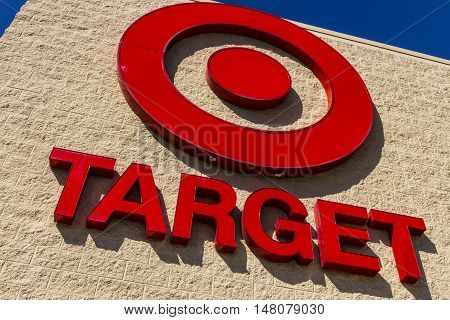 Ft. Wayne - Circa September 2016: Target Retail Store. Target Sells Home Goods Clothing and Electronics VIII