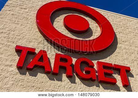 Ft. Wayne - Circa September 2016: Target Retail Store. Target Sells Home Goods Clothing and Electronics VIII