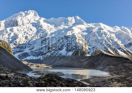 Snowy Peak In Aoraki/mount Cook National Park, New Zealand