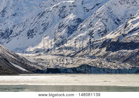 Glacier In Aoraki/mount Cook National Park, New Zealand