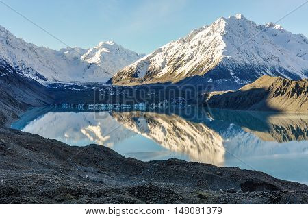 Lake Tasman In Aoraki/mount Cook National Park, New Zealand
