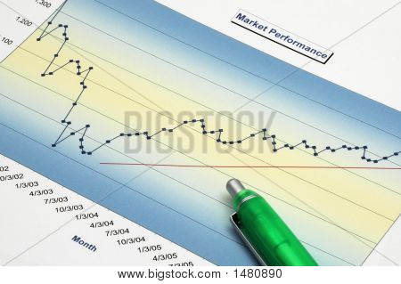 Stock Report with Green Pen