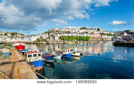 Brixham Harbour In Devon