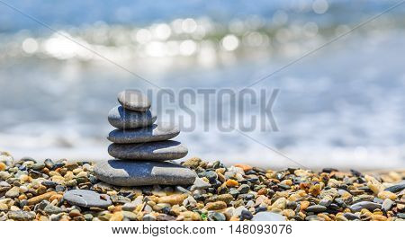 Seashore With Stone Construction