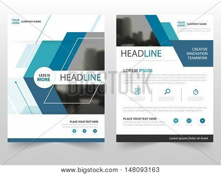 Blue technology business Brochure Leaflet Flyer annual report template design book cover layout design abstract business presentation template a4 size design