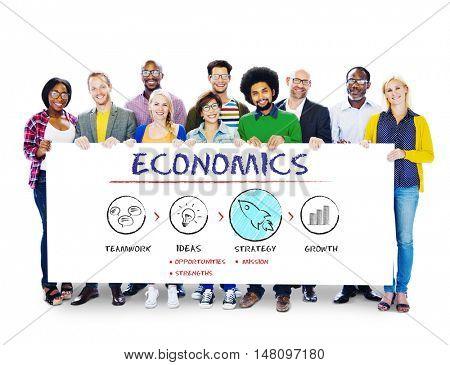 Economics Business Plan Growth Strategy Concept