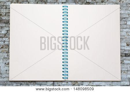One Open Blank Notebook
