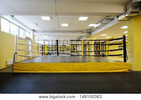 Interior of a boxing ring