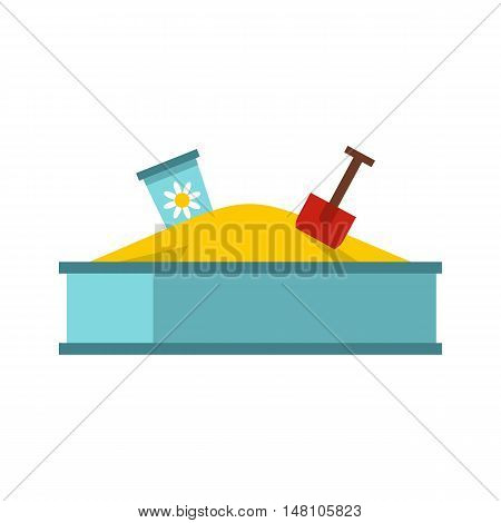 Sandbox icon in flat style on a white background vector illustration