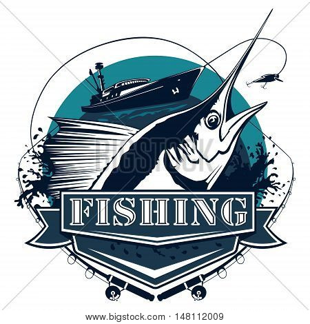 Marlin Big Fishing Logo