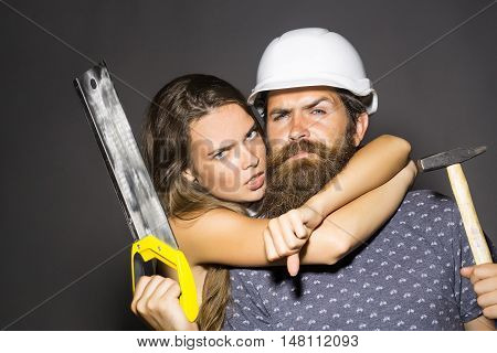 Pretty Woman And Handsome Repairman