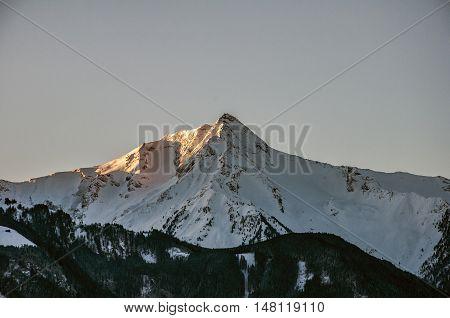 Sunrise at a Mountain Glacier view Zillertal Austria 2