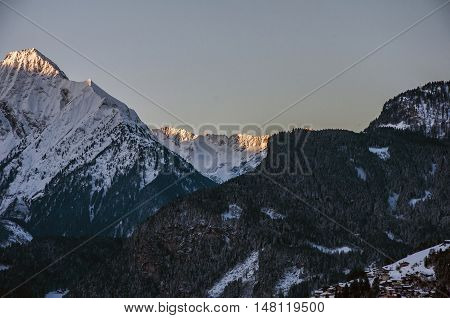 Sunrise at a Mountain Panorama view Zillertal Austria 7