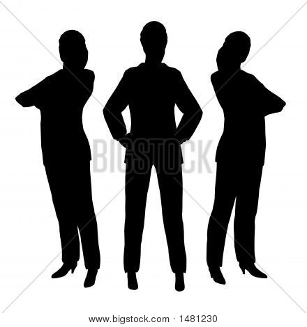 three standing businesswomen made with program poser poster