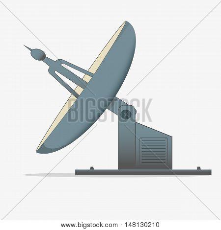 satellite dish. a radio telescope. icon isolated on white background