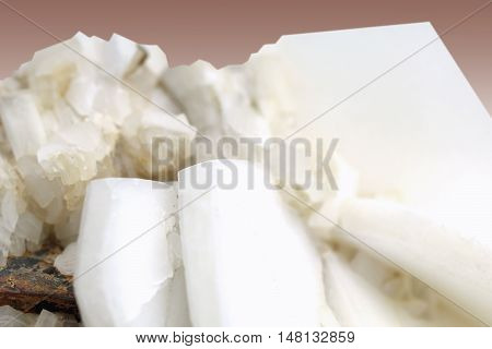 Berierit , represent a group of hydrous silicate mineral complex of sodium, potassium and calcium ,on gently brown background