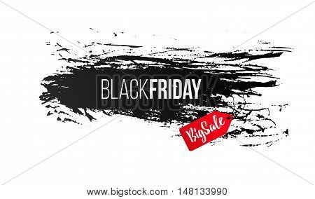 Black Friday sale design template, banner, discount for clothing, electronics, games, furniture, cars, online shopping Vector illustration