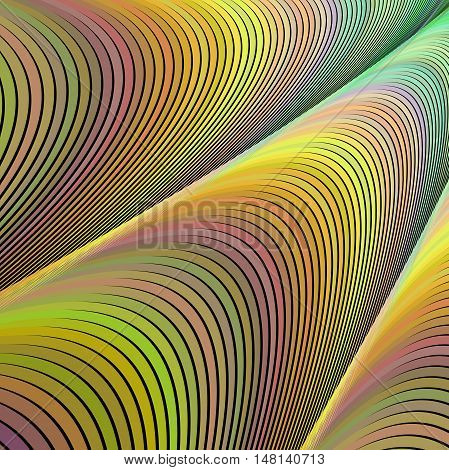 Abstract computer generated vector fractal design background