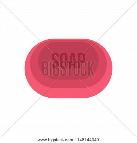 Soap icon in flat style isolated on white background. Purity symbol vector illustration