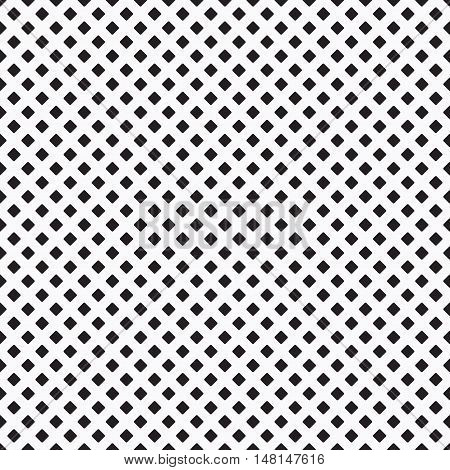Black dense curvy rhombus pattern on white background