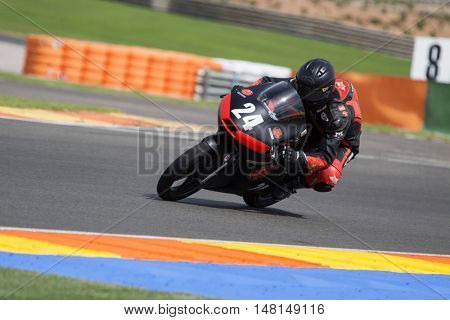 CHESTE, SPAIN - SEPTEMBER 17th: Heng Su in Moto3 during Spanish Speed Championship CEV at Cheste Circuit on September 17, 2016 in Cheste, Spain