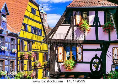 Riquewihr in France -romantic medieval city on the Alsace wine route