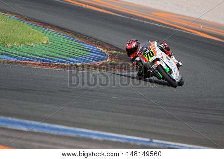 CHESTE, SPAIN - SEPTEMBER 17th: Joshua Whatley in Challenge80 during Spanish Speed Championship CEV at Cheste Circuit on September 17, 2016 in Cheste, Spain