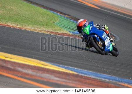 CHESTE, SPAIN - SEPTEMBER 17th: Daniel Mu�±oz in Moto4 during Spanish Speed Championship CEV at Cheste Circuit on September 17, 2016 in Cheste, Spain