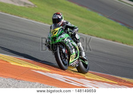 CHESTE, SPAIN - SEPTEMBER 17th: Angel Rodriguez in Open1000 during Spanish Speed Championship CEV at Cheste Circuit on September 17, 2016 in Cheste, Spain