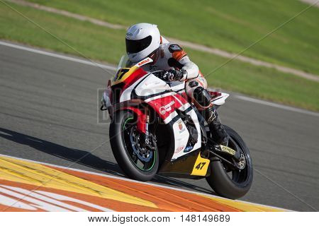 CHESTE, SPAIN - SEPTEMBER 17th: David Roy Slader in Open1000 during Spanish Speed Championship CEV at Cheste Circuit on September 17, 2016 in Cheste, Spain