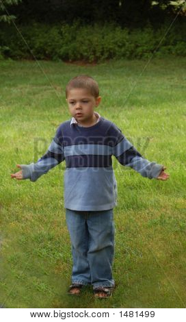 Young Boy In Blue
