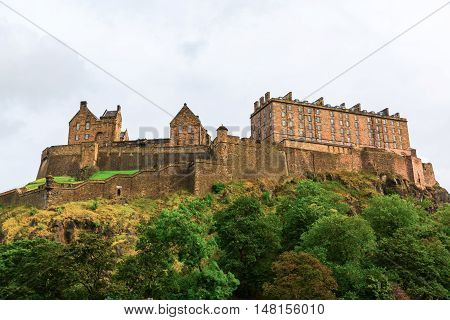 Picture Of Edinburgh Castle In Edinburgh, Scotland