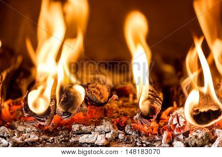 Flame In A Fireplace