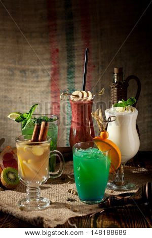 Various Freshness non-alcoholic Cocktails
