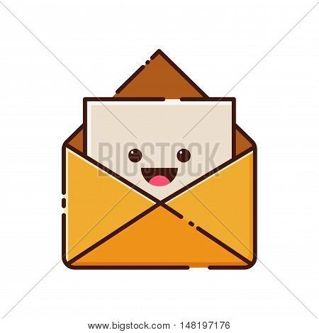Vector stock of envelope latter mail flat icon